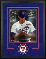 Nolan Ryan Texas Rangers Frmd Signed 16x20 Bloody Lip Photo & Inscs - SM LE 10