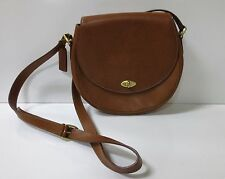 VINTAGE COACH Brown Leather Crossbody Handbag Italy Madison Carlyle #4401  MINT
