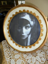 Vintage Italian Florentine Large Round Picture Frame~Made in Italy