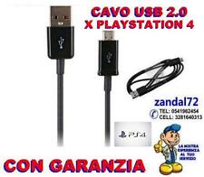 CAVO USB DI RICARICA X CONTROLLER DUALSHOCK 4 GAMEPAD SONY PLAYSTATION 4 NERO