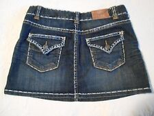 Rock And Roll Cowgirl Womens Skirt Denim Jean Size Medium