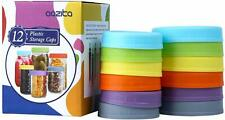 Aozita [12 Pack] Colored Plastic Mason Jar Lids for Ball, Kerr and More New
