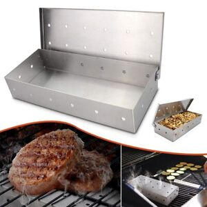 BBQ Accessories Outdoor Products Stainless Steel Barbecue Grill  Smoker Box