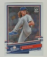 2020 Donruss Optic THE ROOKIES #R-3 DUSTIN MAY RC Rookie Los Angeles Dodgers