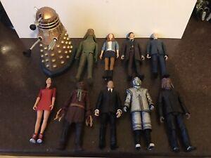 10 x DOCTOR WHO FIGURES BUNDLE - Robot of Death , Rarer 11th Doc ,Dalek etc