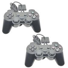 2x Controller Gamepad wired Joypad mit Dual Vibration für Sony PS2 Playstation 2