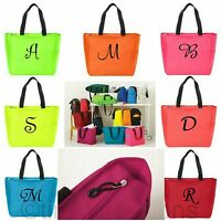 Personalized Tote Bag Monogram Bridesmaid Gift Bridal Wedding Handbag Zippered