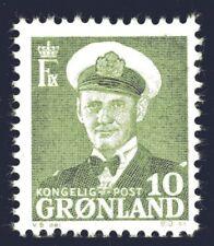 Greenland 1950 10 Ore King Frederik IX Mint Unhinged