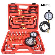 Universal Fuel Injection Gauge Pressure Tester Kit Car System Pump Tool 140PSI