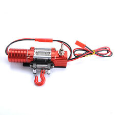 Metal 1:10 Crawler Electric Winch For 1/10 4WD D90 SCX10 Wrangler Jeep RC Car