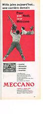 PUBLICITE ADVERTISING   1959   MECCANO   jeux joutes
