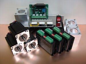 Nema23 Stepper Motor Kit 4Nm x 3 Axis + Mounts CNC Parts Mill Router DIY Hobby