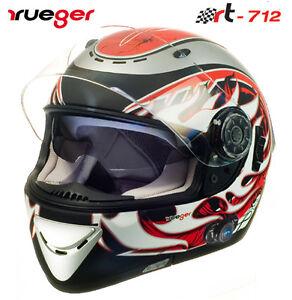 Gr. XL Motorradhelm Integralhelm Quad Roller Helm Kommunikation Icom Bluetooth