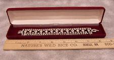 """Vintage Elegant Rhinestones Bracelet Set in Jewelry Gift Box 7"""" Long 1"""" Wide"""