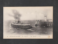 "C1920's View of the Steamer "" Le Holland"" Leaving Boulogne Harbour,France"