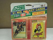 OLDER HOCKEY CARDS SCORE 1991- CANADIAN ENGLISH SERIES 1- BRETT HULL- NEW- L136