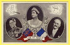 cpa ROYALTY Londres Paris 28 Juin 1938 Visite des Souverains Britanniques