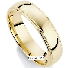 10K YELLOW GOLD MENS WEDDING BAND RING 5MM