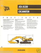 Equipment Brochure - JCB - JS330 - Excavator - 1999 (EB395)