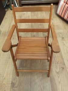 Vintage Child's Wooden Foldable Chair