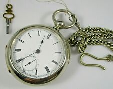 Key Wind 18s 7j Runs Waltham Broadway Pocket Watch c.1881