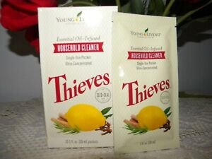 Thieves Household Cleaner Single Use Packets 10-1 oz each - NEW and SEALED