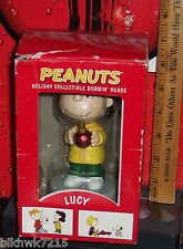 Peanut'S Holiday Collectible Bobbin Heads Lucy Box Has Damage