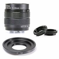 Fujian 35mm f1.7 CCTV C-mount Movie Lens for Nikon N1 Mount Camera J1 V1 J2 J3