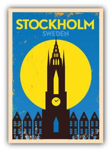 Stockholm Sweden Travel Label Car Bumper Sticker Decal -  ''SIZES''