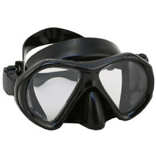 Scuba Dive Snorkeling Spearfishing Mask Gear Ultra Low Volume Black Silicone