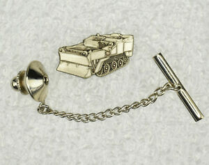 Construction Bulldozer Pewter Tie Pin Signed CM&D