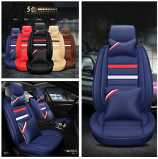 PU Leather Soft Texture 5Sit Car Seat Cover Breathable Comfort Protector Pillows
