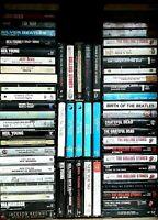 90's, 80's, 70's, 60's, & 50's - Rock, Pop, Folk & Blues - 314 Cassette Tape Lot