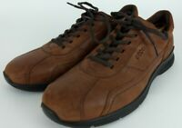 Ecco Distressed Brown Leather Dress Casual Lace Up Oxfords Men's 44 / 10-10.5