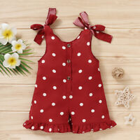 Toddler Kids Baby Girls Clothes Summer Polka Dot Jumpsuit Romper Boysuit Outfits