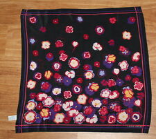 """Estate - Vintage 80s 90s Laura Ashley Abstract Floral Silk Square Scarf 20.5"""""""