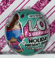 LOL Surprise Holiday Present Limited Edition Doll & Tiny Elf Ball New