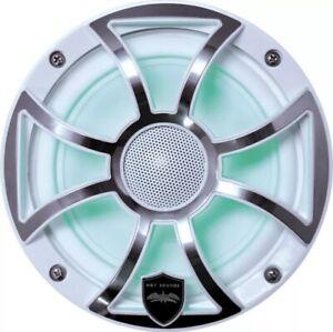 """Wet Sounds REVO 6-XSW-SS Marine RGB 6.5"""" Coax White XS Open Grill"""