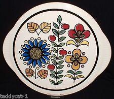 Tortenplatte 40er/50er Jahre ~ Blumen Spritzdekor ~ LIMBURG ECHT DOM KERAMIK