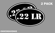 ".22 LR oval Ammo Can -2 PACK - 5""x3"" Oval .22 LR Vinyl Sticker Decal"
