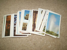67 BROOKE BOND TEA CARDS:FEATURES OF THE WORLD 1984: not a set many dupicated