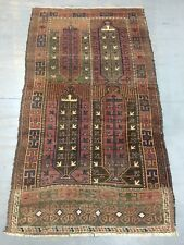 ca.1900 Old Antique Handmade Baluchi Rug 6.5x3.9 Ft Shabby CHIC
