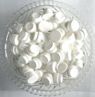 50  White Opaque 1/4oz  Polypropylene Plastic JARS 1TSP Container 3301 DecoJars