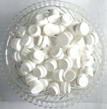 50  White Opaque 1/4oz  Polypropylene Plastic JARS 1TSP Container 3301 DecoJars