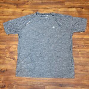 Champion Mens Shirt Gray Short Sleeve XL
