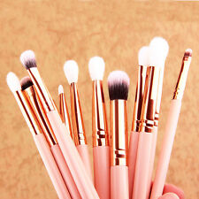 12pc Makeup Cosmetic Brushes Set Powder Foundation Eyeshadow Lip Brush Rose Gold