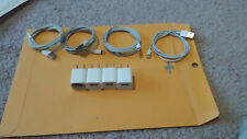 4ea Apple 5W USB Power Cube Charger Wall Plug A1385 & 4ea lightning cables OEM