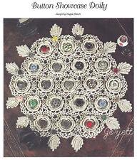 Button Showcase Doily, Charms & Bracelet crochet patterns