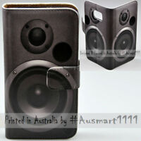 For LG Series Mobile Phone - Subwoofer Theme Print Wallet Phone Case Cover