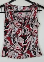 IZ BYER CALIFORNIA Women's Sleeveless Cowl Neck Red & Pink Size M
